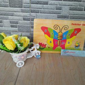 Mainan Edukasi Puzzle Kupu-kupu dan Angka
