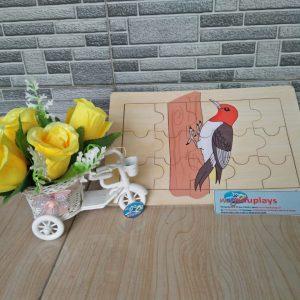 Mainan Edukasi Puzzle Burung Pelatuk