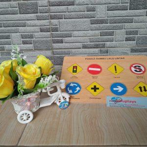 Mainan Edukasi Puzzle Rambu Lalu Lintas