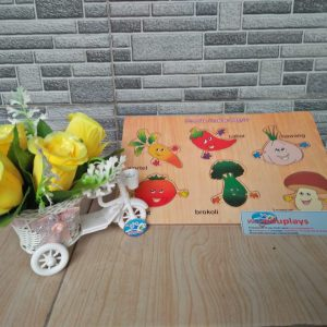 Mainan Edukasi Puzzle Sayuran