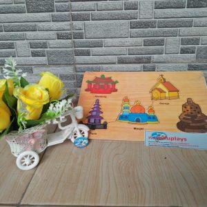 Mainan Edukasi Puzzle Tempat Ibadah