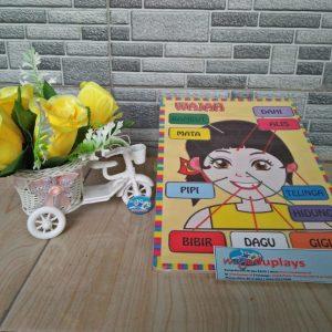 Mainan Edukasi Puzzle Wajah Putri