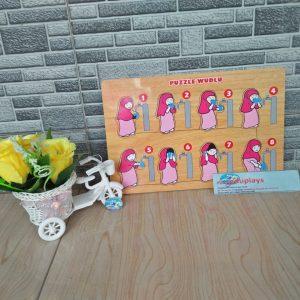 Mainan Edukasi Puzzle Wudhu Putri