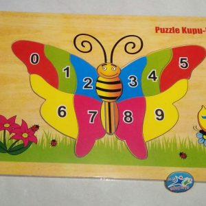 Puzzle Kupu-kupu dan Angka